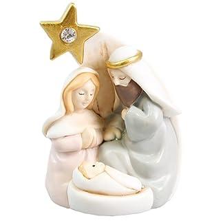 Juego de Belén de Navidad 3cifras 3«resina regalo de Navidad Belén escena con estrella 9cm