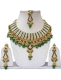92d4a5889eca Fkraft Bisutería Indios Bollywood Boda Oriental Azul Verde y Dorado