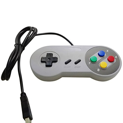Kebidu Classic Usb Controller Pc Controllers Joypad Joystick Replacement For Snes Windows Mac