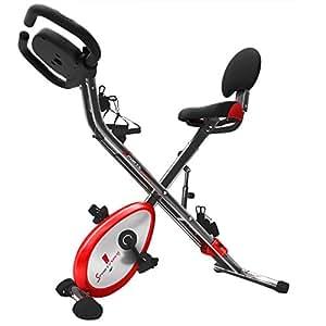 Sportstech Vélo d'Appartement F-Bike X150 4-en-1 Home Trainer Vélo d'intérieur, X-Bike pour Adulte, poignées avec cardiofréquencemètre, Cordes de Traction, Support pour Tablette, ergomètre