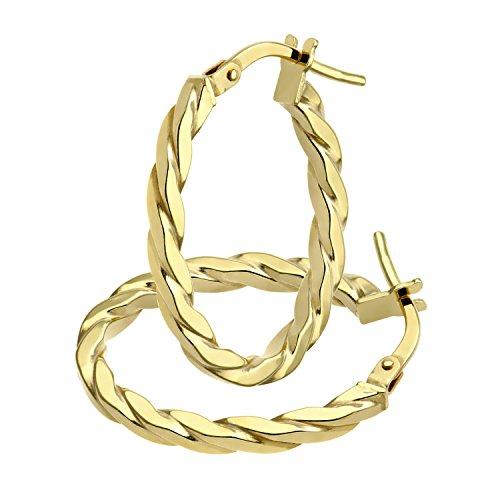Citerna Pendientes para Mujer de Oro Amarillo
