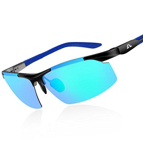 HODGSON polarisierte Sonnenbrille für Herren und Damen, Al-Mg Legierung Fahrbrille Sportbrille