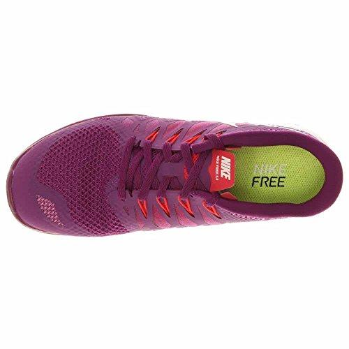 Nike - Wmns Free 5.0, Scarpe da corsa da donna BRIGHT GRAPE/VIOLET SHADE/LEGION RED/WHITE