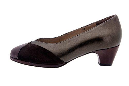 Chaussure femme confort en cuir Piesanto 3152 comfortables amples Caoba