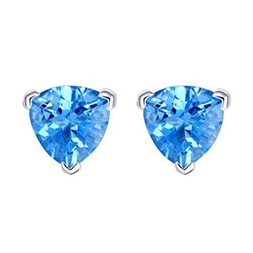 ZUOLUO Diamanten Ohrringe Piercing-Ohrringe Sichere Ohrring Attraktive Feine Leichte Schläfer-Ohrringe Für Hochzeit Urlaub Ungewöhnliche Einfache Ohrringe