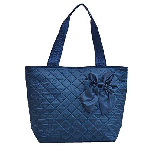 Yy.f Handtaschen Frauen-Bogen Tragbare Schultertasche Handtasche Tasche Baumwolltuch Gibt Es Drei Farben Blue