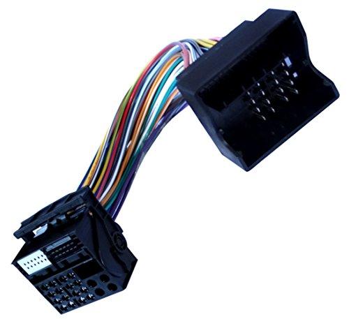AERZETIX: Adaptador cable enchufes ISO para autoradio Quadlock de coche, vehiculos C10872