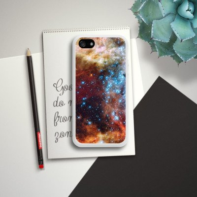 Apple iPhone 4 Housse Étui Silicone Coque Protection Galaxie Motif Motif Housse en silicone blanc