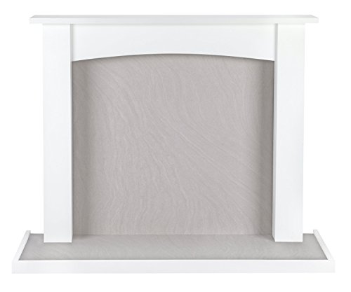Beldray eh1764whbq Fairford Chimenea Fire Surround y Bandeja, Tablero DM, satén Blanco,...