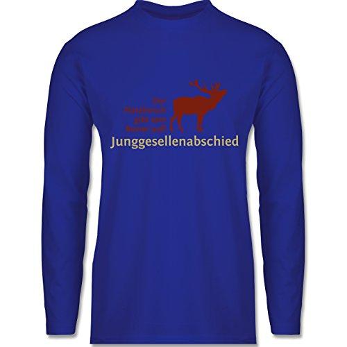 Shirtracer JGA Junggesellenabschied - Platzhirsch - Herren Langarmshirt Royalblau