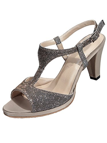 Marion Spath Damen 333-382 sandalette Gold/Taupe