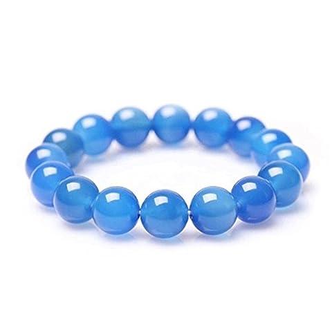 Femme Bleu Calcedoine Bracelet en pierres naturelles perles de 8mm