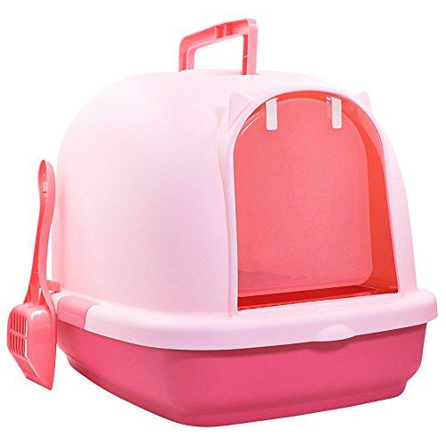 HTZ Katzentoilette vollständig eingeschlossene desodorierte große Katze Sandbox Bedpan Anti-splash...