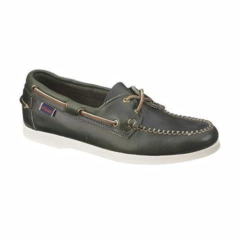 Sebago Horween Dockside Hommes pont en cuir Chaussures - Vert-Green-41.5
