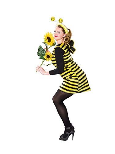 40/42 Bienenkleid mit Flügeln und Fühlern (Kostüm Damen Biene)