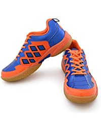 Vector X CS-2010 Badminton Shoes, (Blue/Orange)