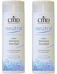CMD neutre Shampoing/Gel Douche avec du sel de la mer Morte (2x 200ml) (Bio, vegan, cosmétique naturel)