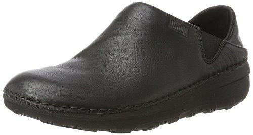 Fitflop Superloafer (Leather), Zoccoli Donna, Nero (Black 090), 38 EU