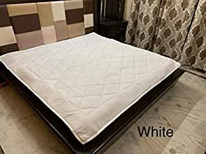 "Ab Home Decor Waterproof Dustproof Microfiber Cotton Mattresses Protector for King Size Bed (White, 72"" x 78"" inch)"