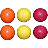 Tima Cricket Wind Balls Best in Quality Plastic Non Breakable Best Cricket Ball for Kids - Combo of 6