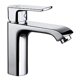 Amzdeal Grifo de Baño Durable con Función de Regulación de Agua Fría y Caliente Grifo de Lavabo Inoxidable de Calidad…
