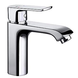 Amzdeal Grifo de Baño Durable con Función de Regulación de Agua Fría y Caliente Grifo de Lavabo Inoxidable de Calidad para Bidé, Ahorra del Agua y Facil de Limpiar