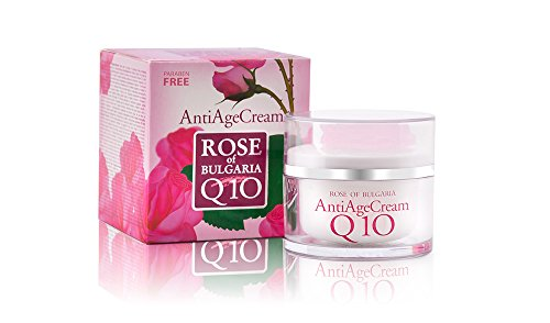 Biofresh Rose of Bulgaria Anti Age Cream Q 10 mit Rosenwasser, Jojobaöl, Vitamin E und Sheabutter...