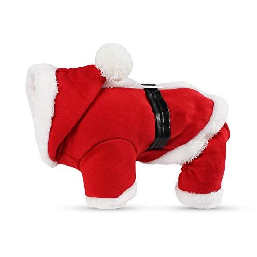 Leadwuli Christmas Dog Kleidung für kleine Hunde Santa Dog Kostüm Winter Pet Mäntel Aus hochwertigem Material, weich und warm für Ihr Haustier