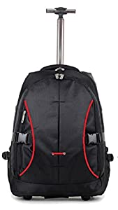 "High Quality EasyJet / Ryanair approved Wheeled Laptop Backpack cabin on board (18"", Black & Red)"