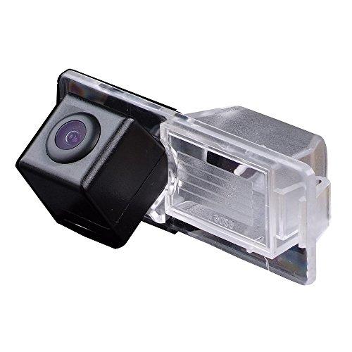 Dynavsal Rückfahrkamera wasserdicht Nachtsicht Auto Rückansicht Kamera Einparkhilfe Rückfahrsystem, Kennzeichenleuchte (Schwarz) für Vectra C Caravan Mokka SRX/XTS/Cts Trax Aveo Lacrosse GL8 CAR Cts-monitor