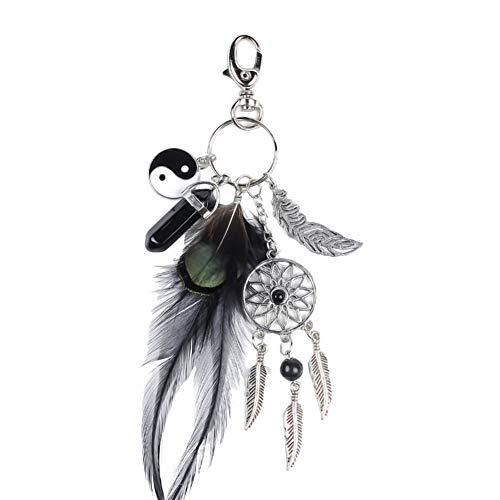 Nikgic - Atrapasueños Borla Llavero Turquesa Ornamentos para el Coche Girls Bag Accessories Bohemian Style Keychain Estilo 11