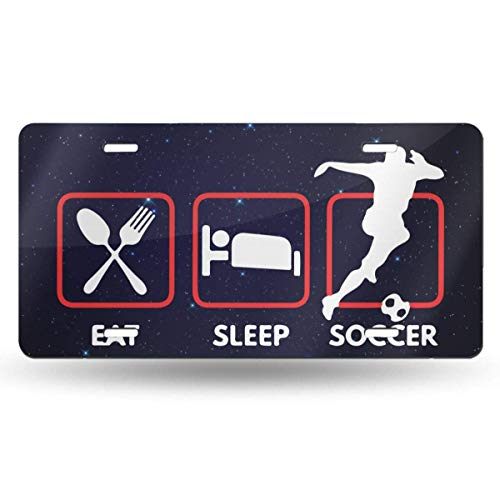 Mchmcgm Eat Sleep Soccer Rugby Matrículas Front Plate