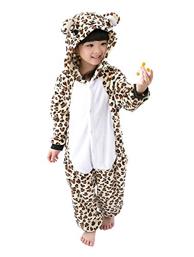 ABYED® Jumpsuit Tier Karton Fasching Halloween Kostüm Sleepsuit Cosplay Fleece-Overall Pyjama Schlafanzug Erwachsene Unisex Lounge,Kinder Größe 105 - für Größe: 116-125cm (Bär Für Jungen Kostüme)