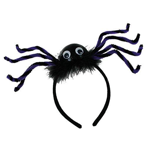 (Preis am Stiel 2 x Halloween-Haarreif Spinne | Horror | Grusel | Tarantel)