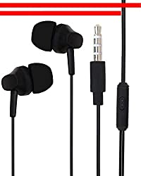 Latest Designed In Ear Buds Earphone Headset Compatible For Panasonic Eluga Ray 700 -Black