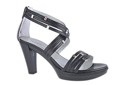 Nero Giardini Sandalo Donna in Pelle Elegante P106080D Softy Nero