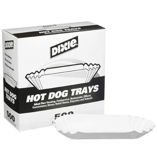 8 in./500 ct. by Dixie Hot Dog Trays ()