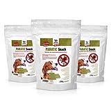 DOGS-HEART Anti-Zecken Snack für Hunde (Sparset 3x250g) - DAS ORIGINAL! Natürliche Abwehr gegen Zecken, Flöhe und Milben mit Schwarzkümmelöl - Auch für Welpen (3 Monatspackungen für Hund mit ca. 25kg)