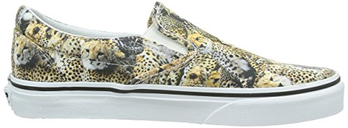 Vans U CLASSIC SLIP-ON, Sneaker Unisex Adulto Marrone (Leopardo)