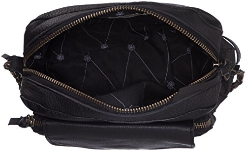 Pieces - Ps Naina  Leather Cross Over  Bag, Borsa A Tracolla da donna Nero (Black)