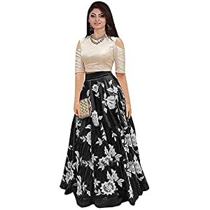 Aarna Fashion Cotton Embroidered Semi-stitched Gown & Salwar Material