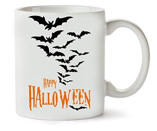 Happy Halloween Orange Logo Bats Klassische Teetasse Kaffeetasse