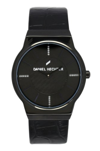 Daniel Hechter - DHD 001/3AA - Women's Watch - Analogue Quartz - Black Dial - Black Leather Strap