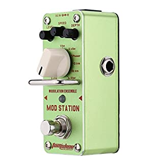 ammoon AROMA Mod Station Modulation Ensemble Electric Guitar Effect Pedal Mini Single Effect with True Bypass AMS-3