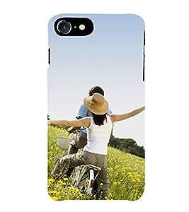Print Masti Designer Back Case Cover for Apple iPhone 7 Plus (Hat Boy Girl Cycle Basket )