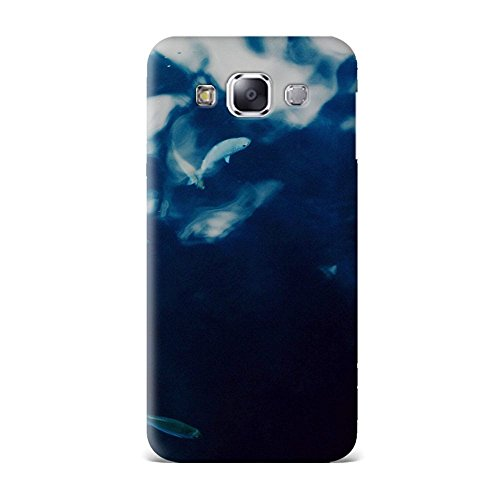 Samsung E5 Case, Samsung E5 Hard Protective SLIM Printed Cover [Shock Resistant Hard Back Cover Case] for Samsung E5 - Water Lake Fish Nature Indigo Blue  available at amazon for Rs.375