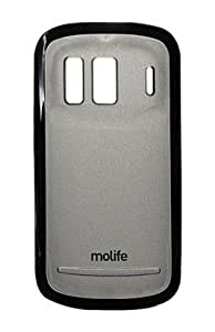 Molife M-MLP9128BK Mobile Back Cover for Nokia 808 Pureview (Black)