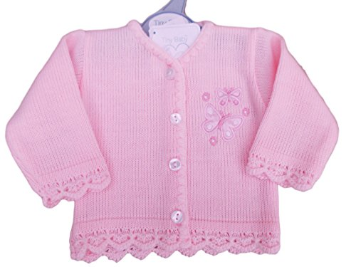 Tiny Baby with Tags Premature Preemie Pretty Butterfly Knitted Cardigan Clothes (3-5lbs)
