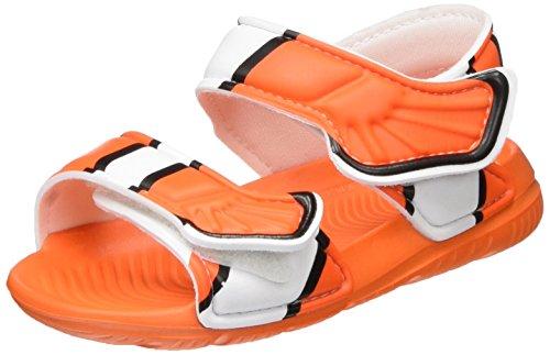adidas Unisex Baby Disney Akwah 9 Badeschuhe, Mehrfarbig (Orange/Core Black/Ftwr White), 21 EU