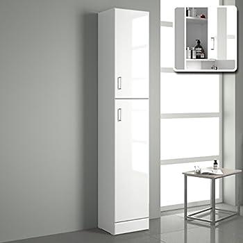FMD Tall Bathroom Cabinet Stockholm 1, 40 x 180 x 35 cm ...